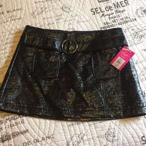 NWT Candie's Black Pleather Mini Skirt